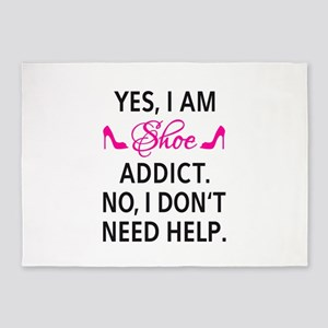 Yes, I am shoe addict 5'x7'Area Rug