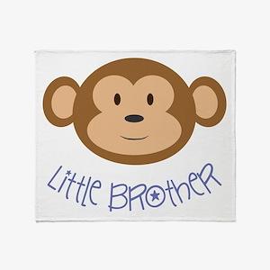 Little Brother Monkey Throw Blanket