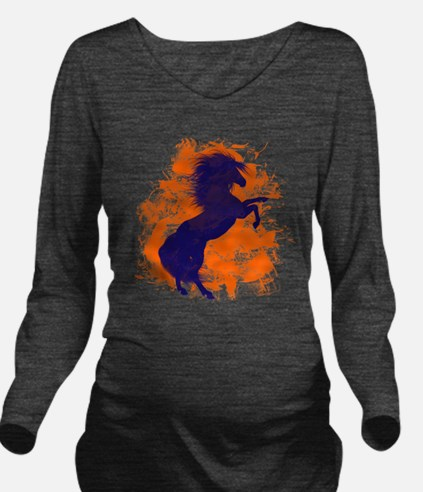 Denver Bucking Broncos Horse Long Sleeve Maternity