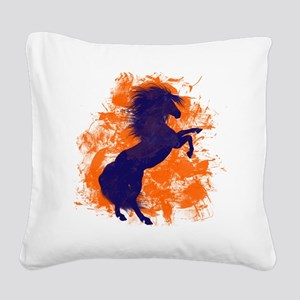 Denver Bucking Broncos Horse Square Canvas Pillow