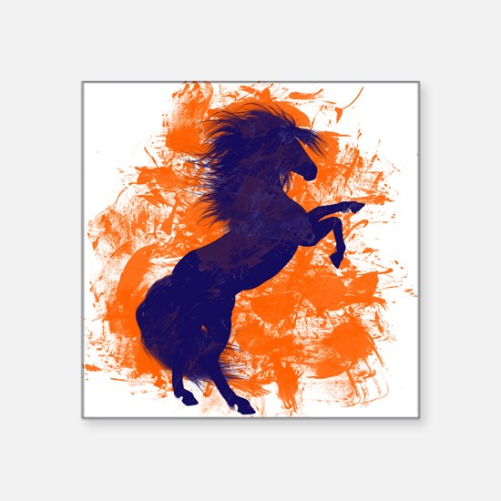 Denver Bucking Broncos Horse Sticker