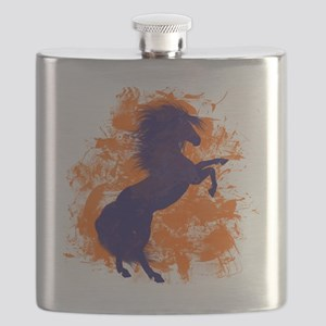 Denver Bucking Broncos Horse Flask