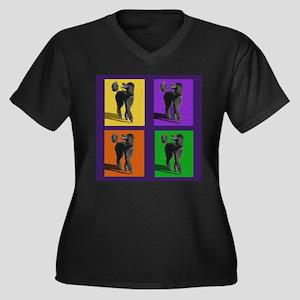 Poodle Pop Art Plus Size T-Shirt