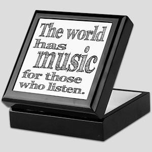 The World has Music Keepsake Box