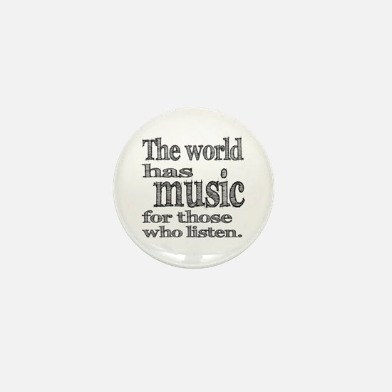 The World has Music Mini Button (10 pack)