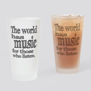 The World has Music Drinking Glass