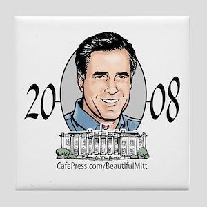 Beautiful Mitt Romney Tile Coaster