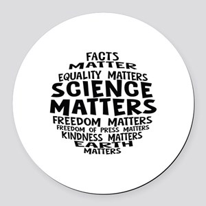 Science Matter Bubble Round Car Magnet