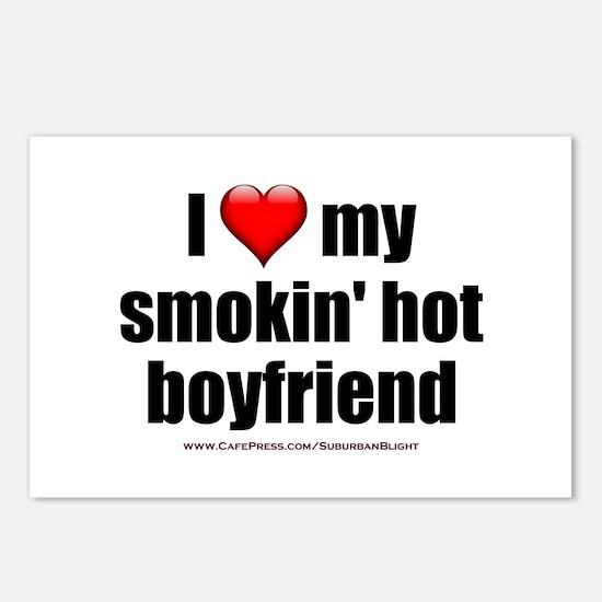 """Love My Smokin' Hot Boyfriend"" Postcards (Package"