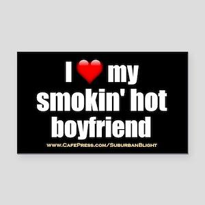 """""""Love My Smokin' Hot Boyfriend"""" Rectangle Car Magn"""