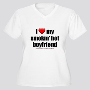 """Love My Smokin' Hot Boyfriend"" Women's Plus Size"