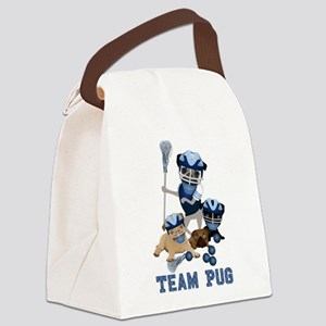 team pug lacrosse ts and Canvas Lunch Bag