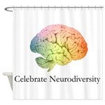 Celebrate Neurodiversity Shower Curtain