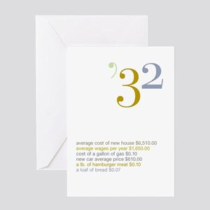 1932 Fun Facts Birthday Greeting Card