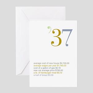 1937 Fun Facts Birthday Greeting Card