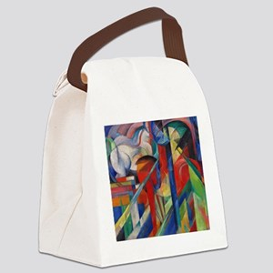 Stables by Franz Marc (L) Canvas Lunch Bag