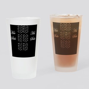 Her Side, His SIde, Pet middle Drinking Glass