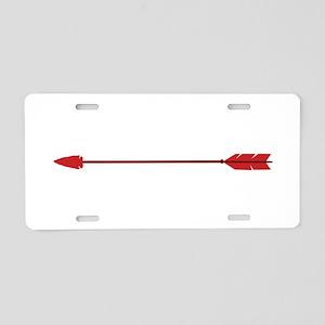 Red Arrow Aluminum License Plate