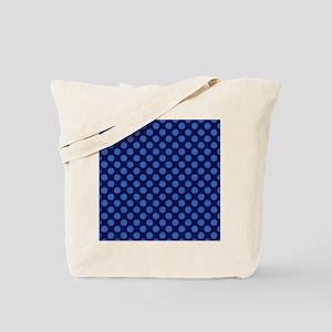 Denim Dots Tote Bag