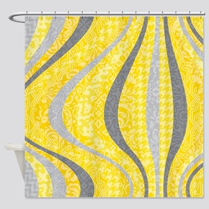 Crested Gray Poupon-Shower Curtain