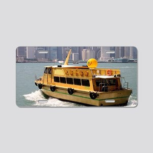 Yellow boat, Victoria Harbo Aluminum License Plate