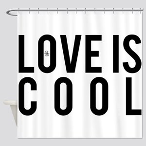 Love Is Cool Shower Curtain