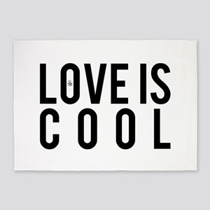 Love Is Cool 5'x7'Area Rug