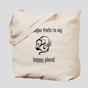 Flamingos frolic in my happy place Tote Bag