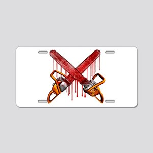 Bloody Chainsaws Aluminum License Plate
