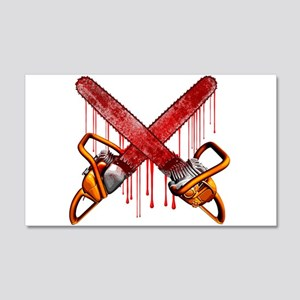 Bloody Chainsaws Wall Decal