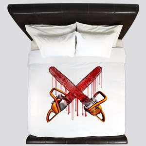 Bloody Chainsaws King Duvet