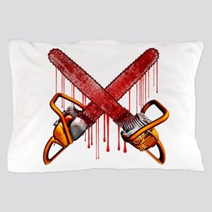 Bloody Chainsaws Pillow Case