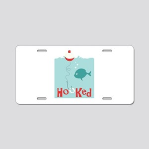 Hooked Aluminum License Plate