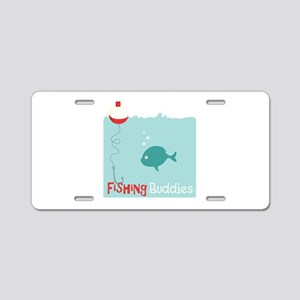 Fishing Buddies Aluminum License Plate