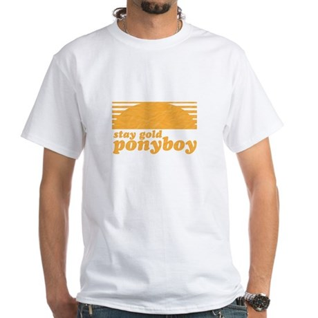 """""""Stay Gold Ponyboy"""" [The Outs White T-Shirt"""
