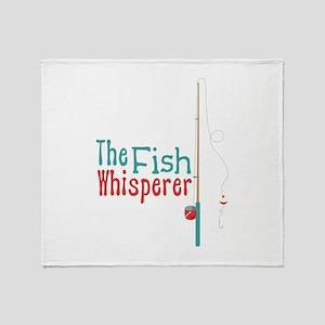 The Fish Whisperer Throw Blanket