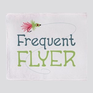 Frequent Flyer Throw Blanket