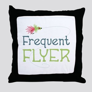 Frequent Flyer Throw Pillow