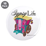 Bohemian Gypsy Chic 3.5&Quot; Button (10 Pack)