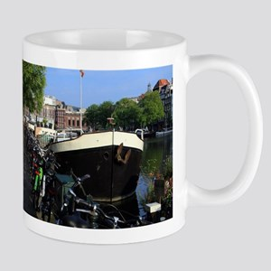 Barge and bicycles, Amsterdam Mugs