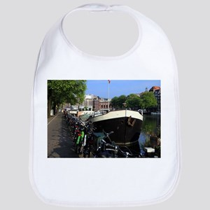 Barge and bicycles, Amsterdam Baby Bib