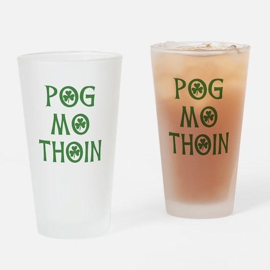 Pog Mo Thoin Shamrock Drinking Glass