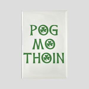 Pog Mo Thoin Shamrock Rectangle Magnet