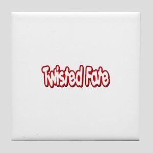 Twisted Fate Logo Tile Coaster