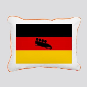 Team Bobsled Germany Rectangular Canvas Pillow