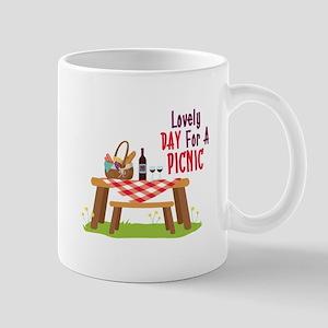 Lovely DAY For A PICNIC Mugs