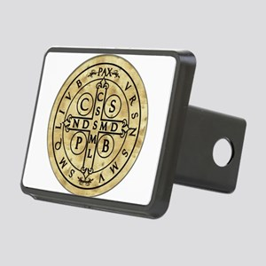 St. Benedict Medal Rectangular Hitch Cover