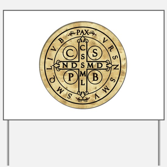St. Benedict Medal Yard Sign