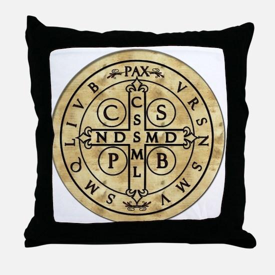 St. Benedict Medal Throw Pillow