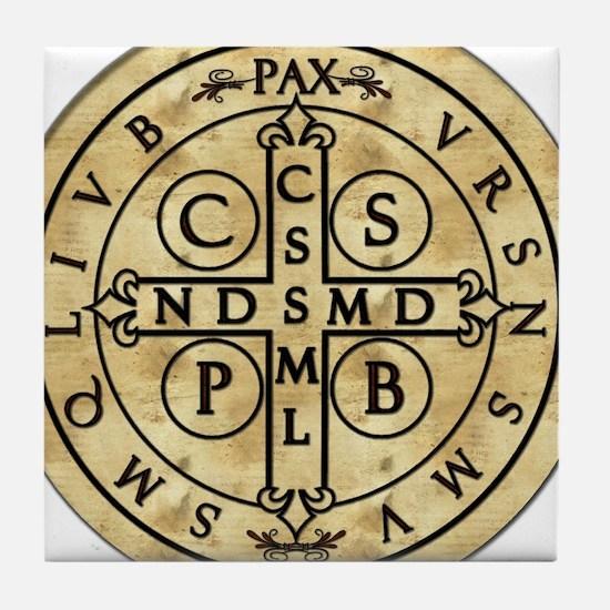 St. Benedict Medal Tile Coaster